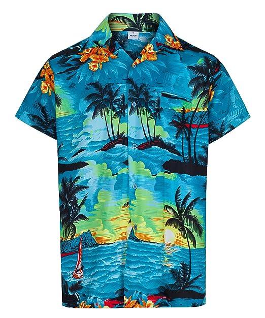 1518291d450 Red Star Mens Hawaiian Shirt Short Sleeve STAG Beach Holiday Aloha Summer  Fancy Dress Hawaii  Amazon.co.uk  Clothing