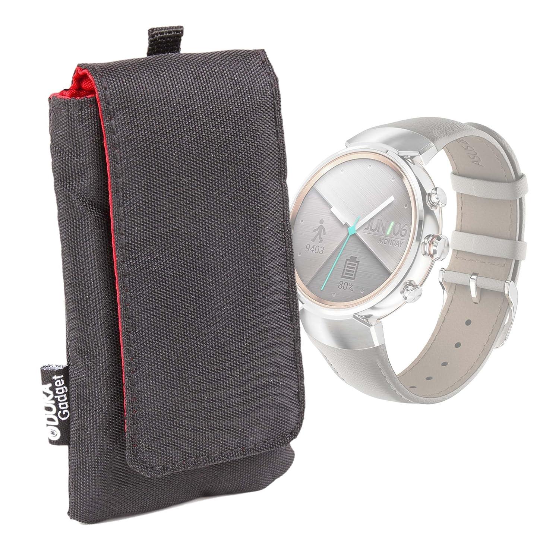 DURAGADGET Funda Acolchada Negra/Roja para Smartwatch ASUS WI501Q ...