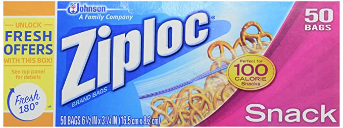 Ziploc Snack Bolsa 50 bolsas): Amazon.es: Alimentación y bebidas