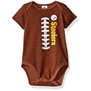 Gerber Childrenswear NFL Pittsburgh Steelers Boys Football Bodysuit, 6-12 Months, Brown