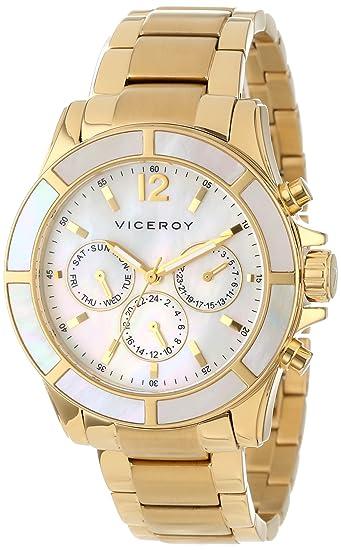 Viceroy 47688 - 95 - Reloj de pulsera de mujer, correa de acero inoxidable: Amazon.es: Relojes