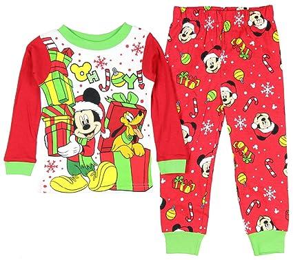 149d19ebd Mickey Mouse Pluto Little Boys Toddler Christmas Cotton Pajama Set (5T)
