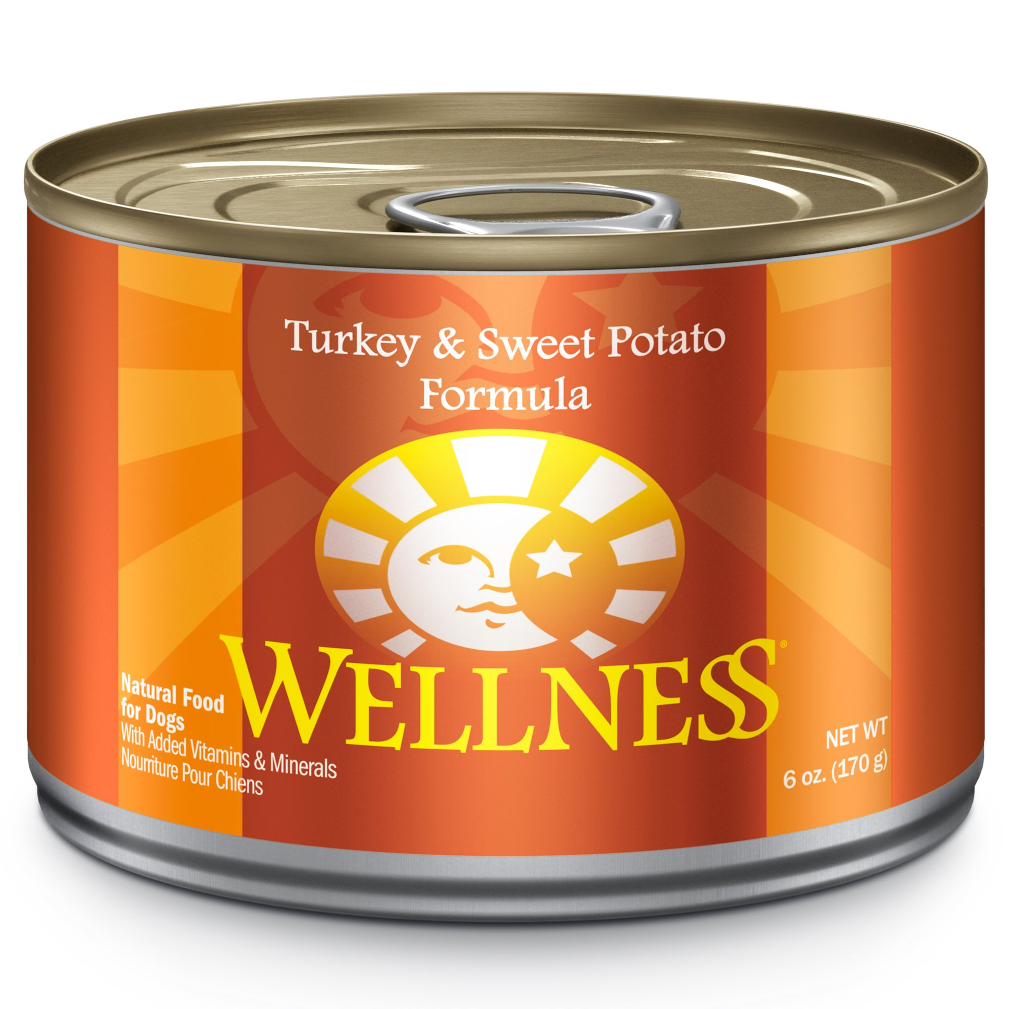 Wellness Complete Health Natural Wet Canned Dog Food, Turkey & Sweet Potato, 6-Ounce Can (Pack Of 24) by Wellness Natural Pet Food