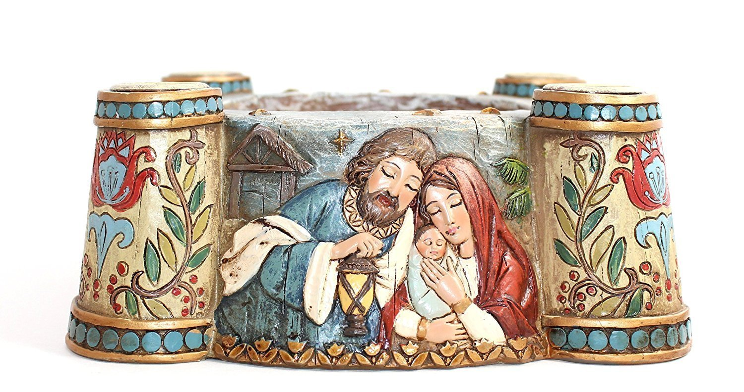 Avalon Gallery Nativity Scene Advent Candle Holder by Avalon Gallery