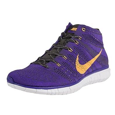 Amazon.com: Nike Free Flyknit Chukka Sneaker Hyper Grape ...