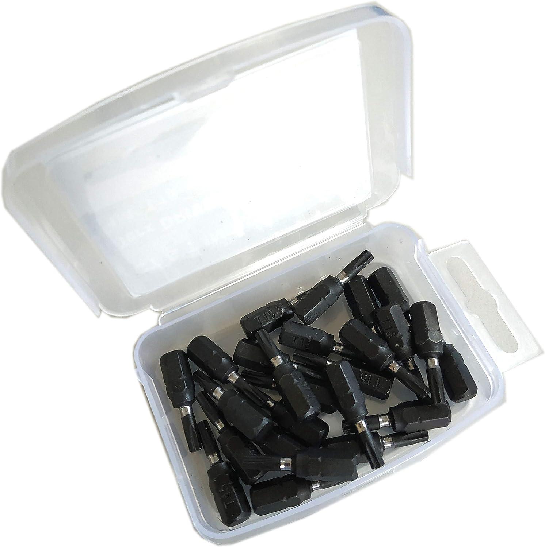 Lot de 25 embouts de type Torx 30 TX 30 T 30 L 25 mm S2 de qualit/é magn/étique Noir mat Torx 30