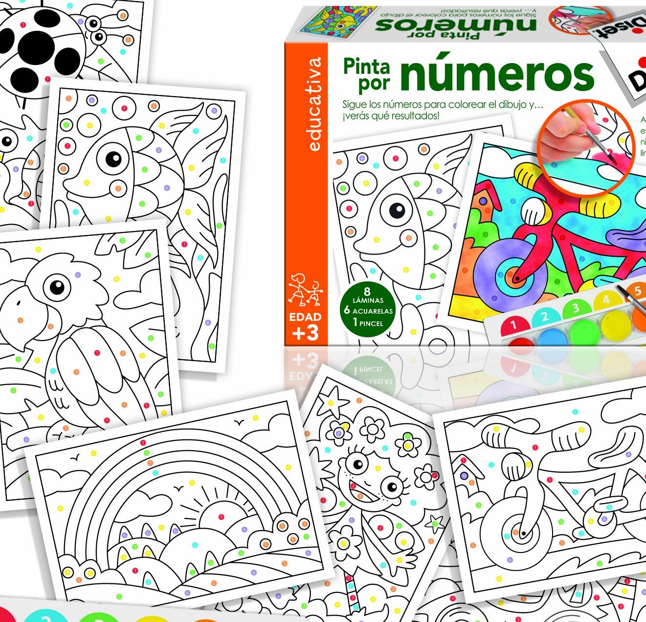 Diset Juego educativo para niños para aprender los numeros: Amazon ...