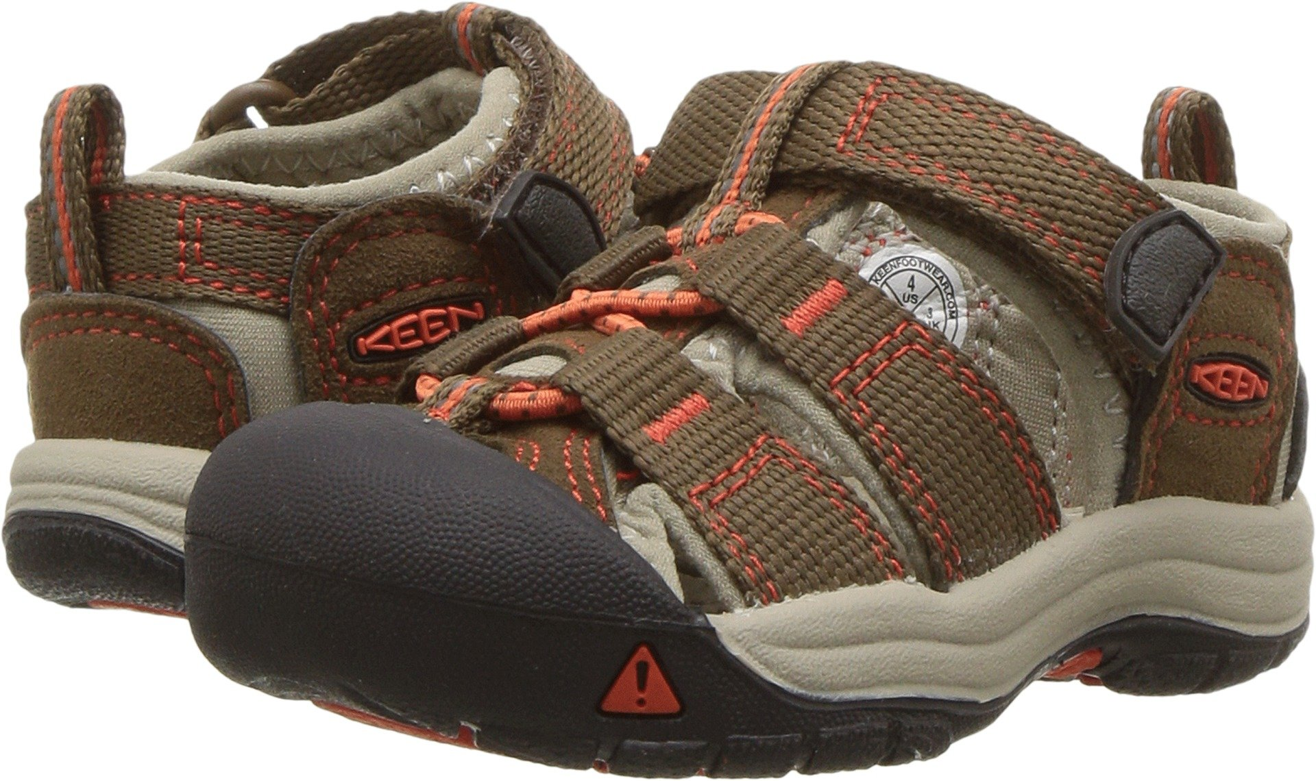 KEEN Toddler (1-4 Years) Newport H2 Dark Earth/Spicy Orange Sandal - 7 M US Toddler