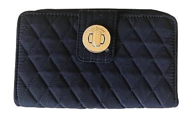 ed8ad9ca3c9b Vera Bradley Turnlock Wallet (Classic Navy) at Amazon Women s ...