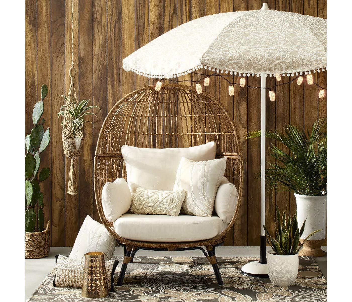 Sensational Amazon Com Opalhouse Southport Patio Egg Chair Linen Spiritservingveterans Wood Chair Design Ideas Spiritservingveteransorg