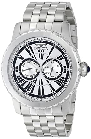 Invicta Mens 14586 Specialty Analog Display Swiss Quartz Silver Watch