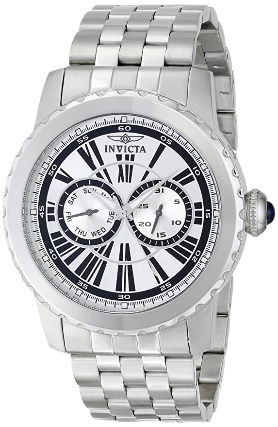 Amazon.com: Invicta Mens 14586 Specialty Analog Display Swiss Quartz Silver Watch: Invicta: Watches
