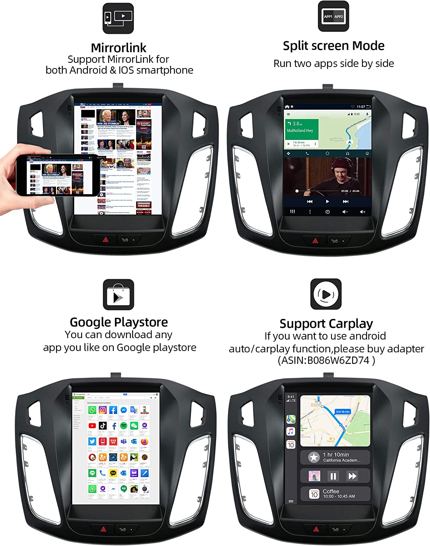 Joyx Android 10 Car Radio Fits Ford Focus 2010 2013 Elektronik