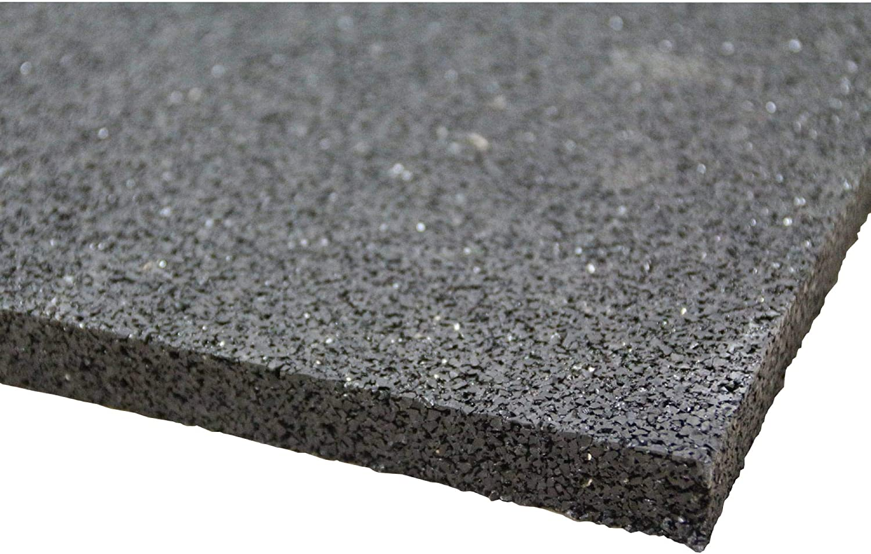 acerto 31141 Base de la lavadora hecha de granulados de goma - 100 x 60 x 10mm * Robusta * Alta densidad * Uso versátil | Base de la lavadora con amortiguación de vibraciones alfombra