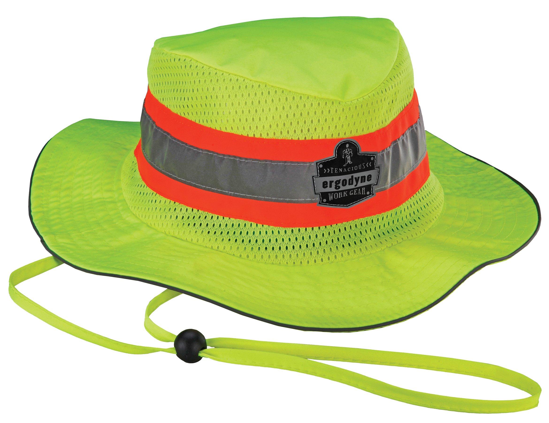 Ergodyne Chill-Its 8935MF Evaporative Cooling Microfiber High Visibility Ranger Hat, Large/X-Large
