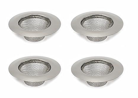 Amazon.com: Elitexion - Colador de lavabo, 4 piezas, acero ...