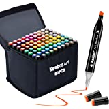 Keebor Premium 80+1 Colors Dual Tip Alcohol Art Markers, Plus 1 Blender Marker with Thick Packing, General Markers for Fine A