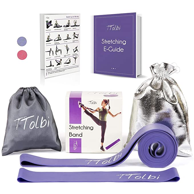 Stretch Bands for Dancers, Ballerinas and Gymnasts   Dance Stretch Bands for Flexibility, Mobility and Strength   Shiny Bag, Travel Bag, Printed Stretches and Stretching E-Guide best resistance bands
