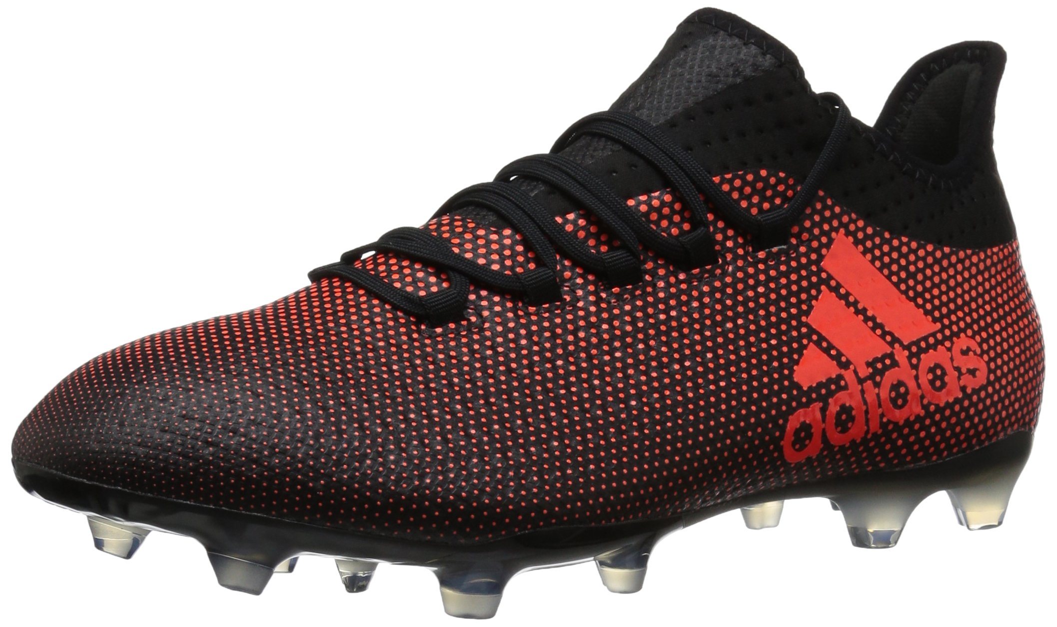 adidas Men's X 17.2 FG Soccer Shoe, Black/Solar Red/Solar Orange, 10.5 M US