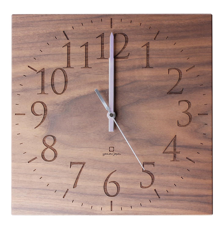 ヤマト工芸 MUKU スタンダード数字 (掛け時計) ブラウン YK14-101 B00PJMPCB6