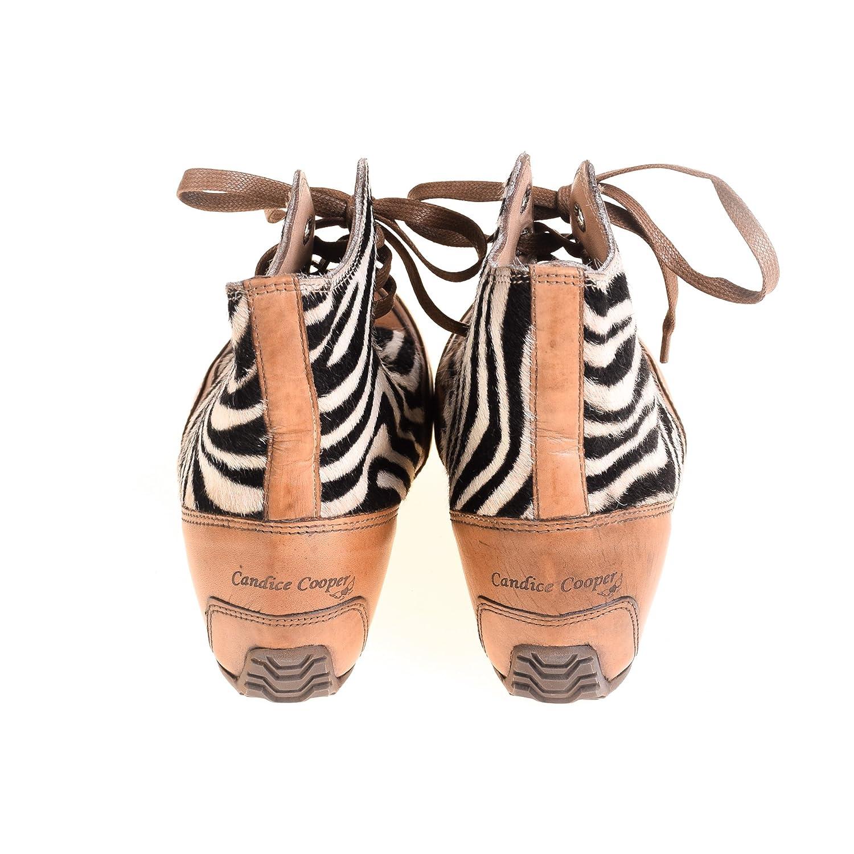 c3696c46991c7e Candice Cooper Damen Sneaker High Leder Braun Fellbesatz