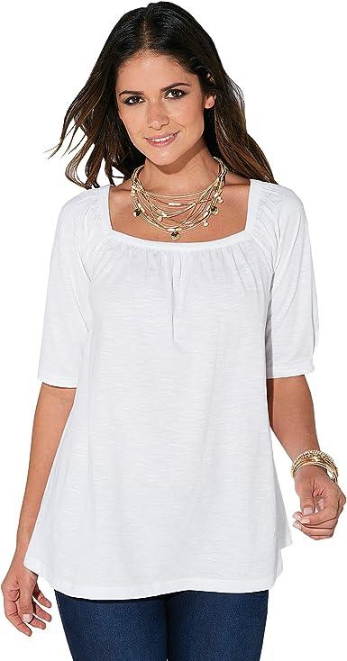 Camiseta cuadrada mujer manga larga 100% algodón Venca