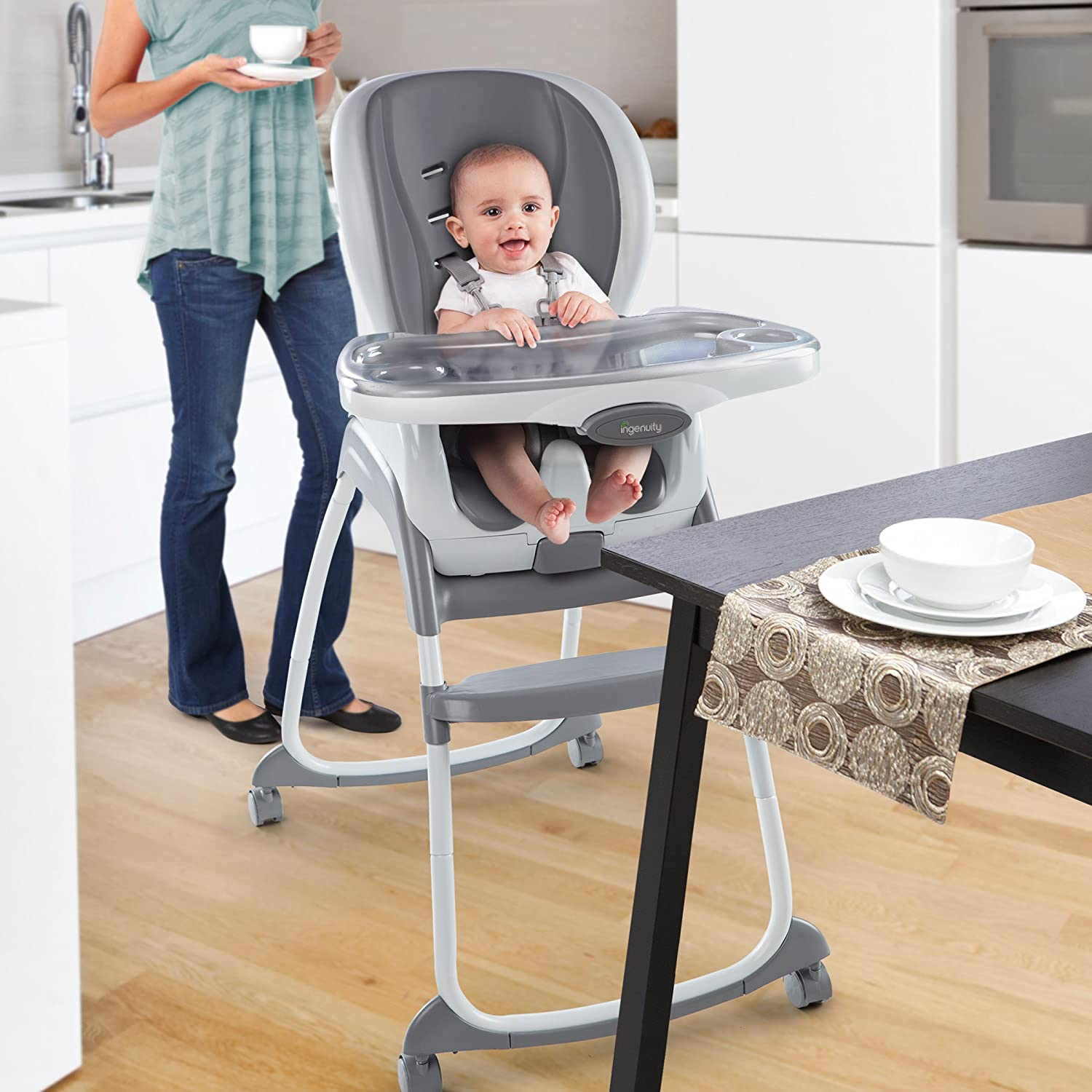 Amazon Ingenuity Smartclean Trio 3 in 1 High Chair Slate Baby