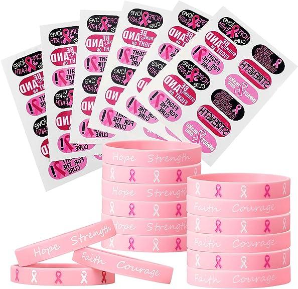 Pegatinas de Tatuaje de Conciencia de cáncer de Mama de 72 Piezas ...