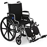 Medline Lightweight and User-Friendly Wheelchair with Flip-Back, Desk-Length Arms and Elevating Leg Rests for Extra Comfort,