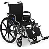 Medline Lightweight and User-Friendly Wheelchair with Flip-Back, Desk-Length Arms and Elevating Leg Rests for Extra…