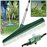 Artificial Lawn Brush Rake Broom Soft Nylon Bristles Fake Astro Turf Telescopic