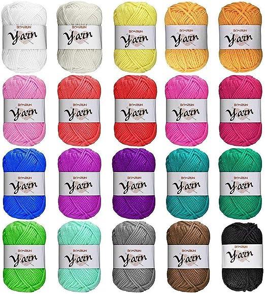 Juego de lana, lana de tejer, lana para crochet, juego de lana de ...