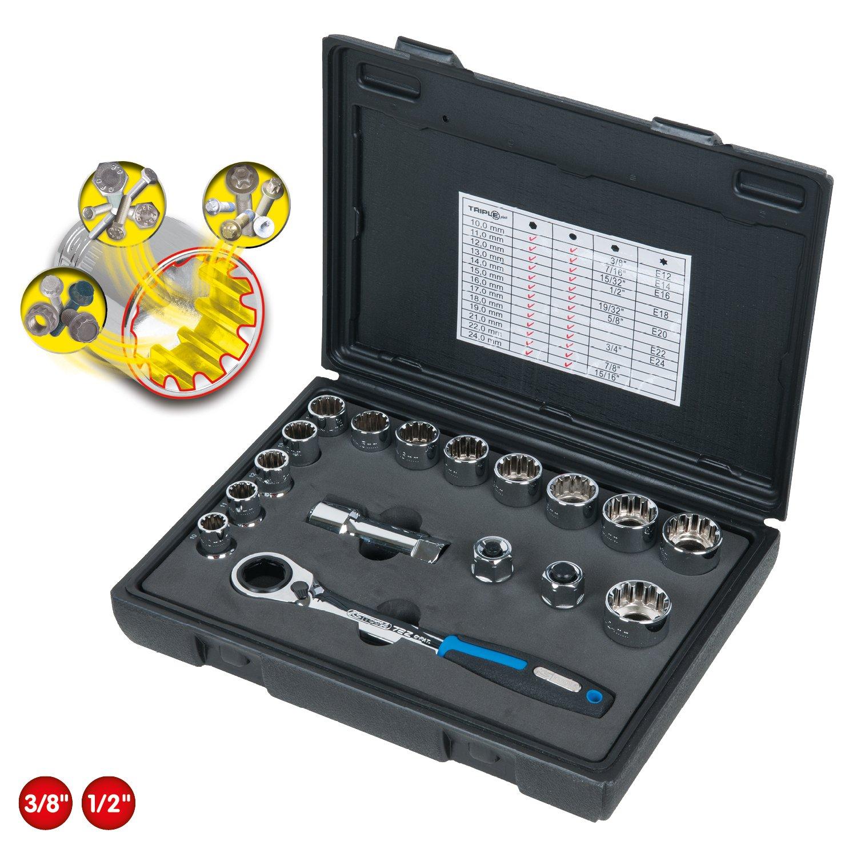 ir a trav/és 17pcs KS Tools 916.4050 TRIPLE juego de tubos