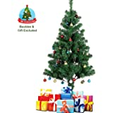c74d731a030a Uten 5ft Artificial Christmas Tree Premium Xmas Pine Trees with Solid Metal  Legs Easy Assembly Foldable