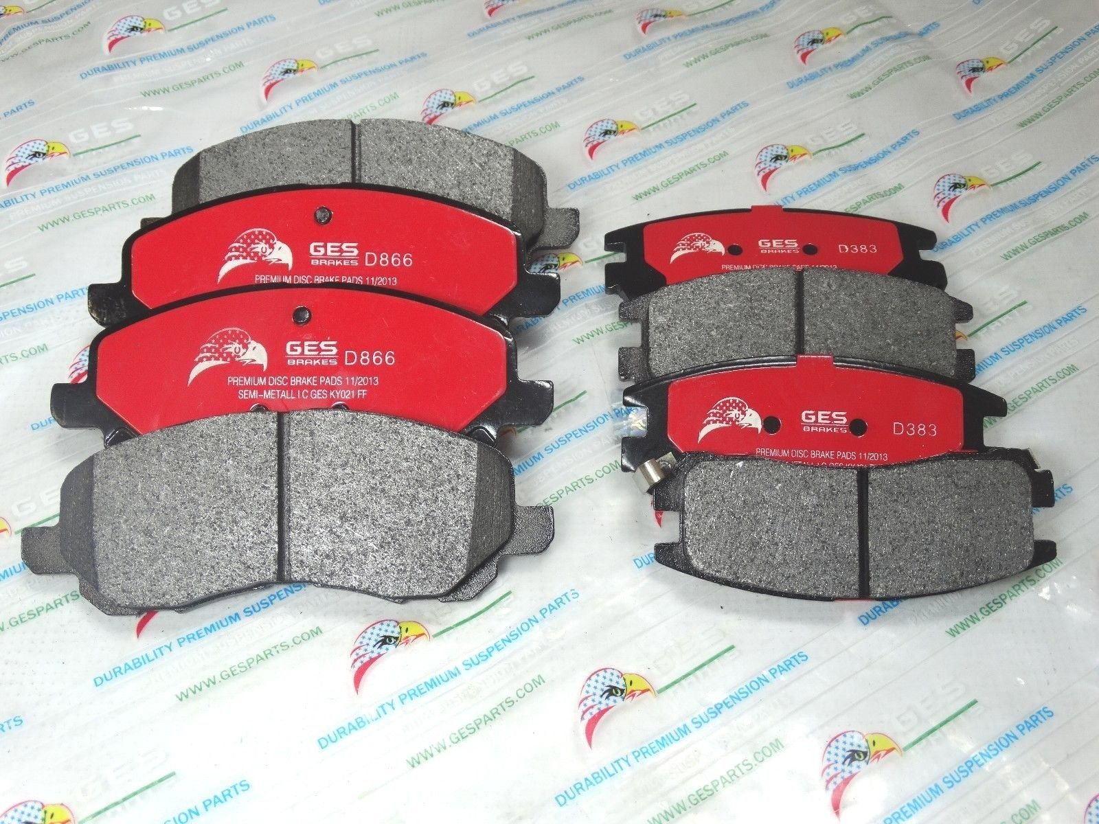 NEW 2 Sets Front & Rear Brake Pads Mitsubishi Eclipse Galant D866 & D383 by GES PARTS (Image #2)