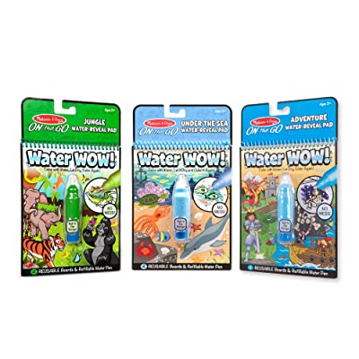 Melissa & Doug On The Go Water Wow! 3-Pack (Jungle, Under The Sea, Adventure): Toys & Games [5Bkhe1803440]