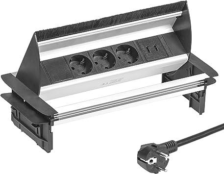 Meubles de la prise coulé 1 positions 1x USB Table de prise de courant Cuisine Bureau