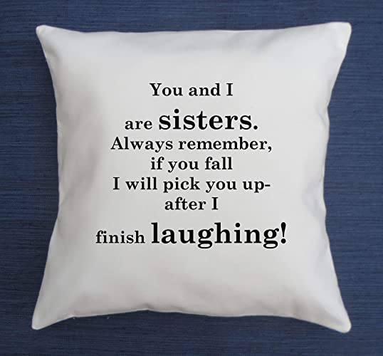 Amazon Sister Pillow Cover Funny Quote Throw