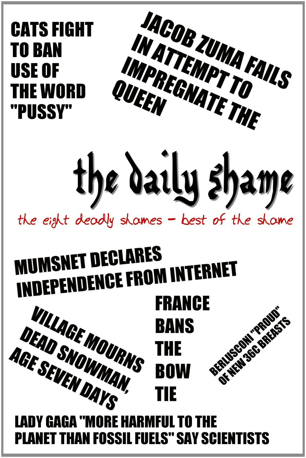 Read Online The Eight Deadly Shames: Best of the Daily Shame 1 pdf epub