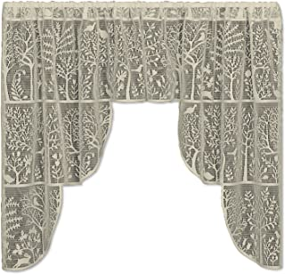 """product image for Heritage Lace Rabbit Hollow Swag Pair, 72"""" by 39"""", Cafe"""