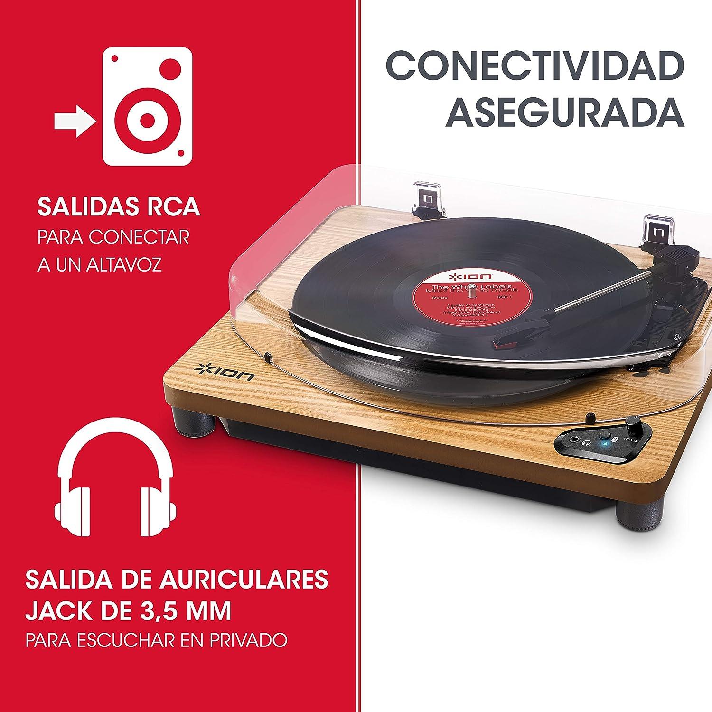 ION Audio Air LP Wood - Tocadiscos de vinilo Bluetooth: Amazon.es ...