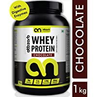 Abbzorb Nutrition Whey Protein; 1 kg (Chocolate Flavour) with Digestive Enzymes