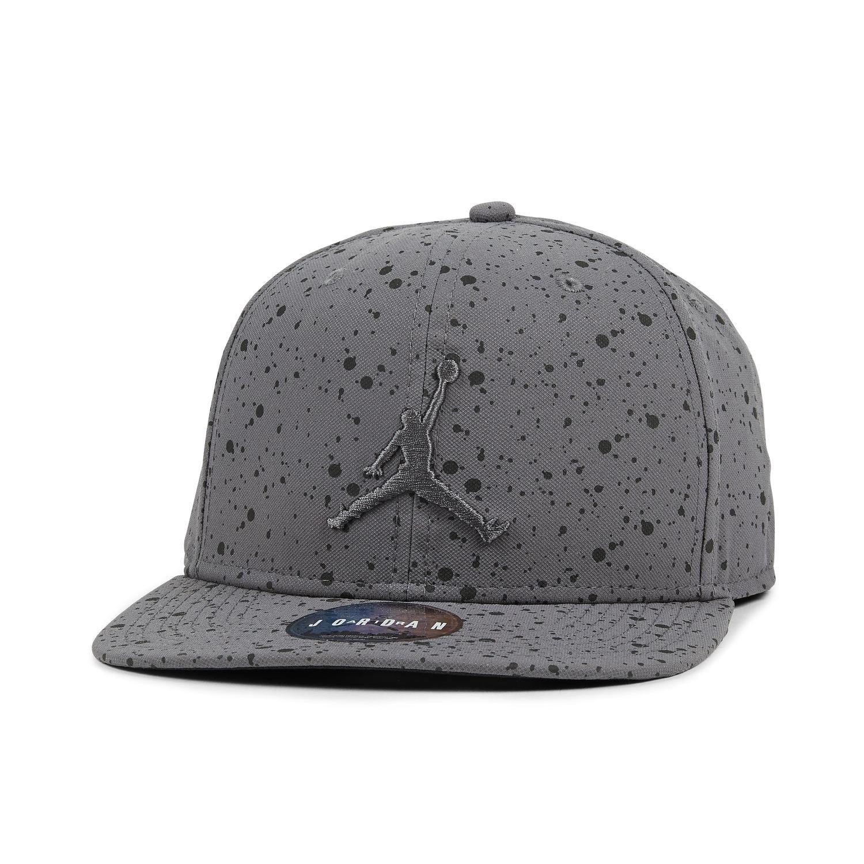 cb0704da609 Jordan Cap - Speckle Print Snapback grey black size  Adjustable   Amazon.co.uk  Clothing