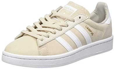 adidas Campus, Sneakers Basses Femme, Marron (Clear Brown/Footwear  White/Rose