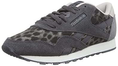 dc5073845304 Reebok Women s Classic Nylon Wild Trainers Black Schwarz (Shark Soft  Black Steel