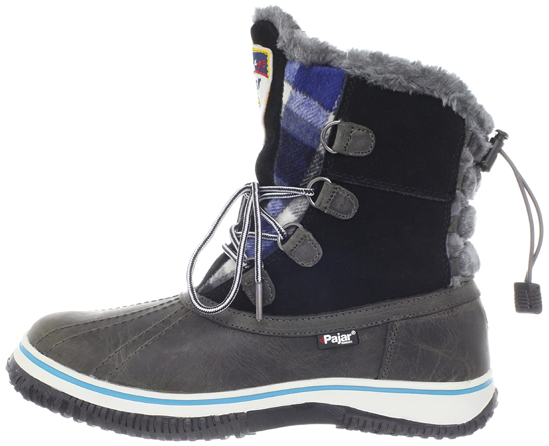 Pajar Women's Iceberg Boot B007SUBDN8 40 EU/9-9.5 M US|Dark Grey/Black