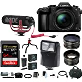 Panasonic LUMIX DMC-G85MK 4K Mirrorless Lens Camera Kit, 12-60mm Len + Rode VideoMic Go 64GB Accessory Kit