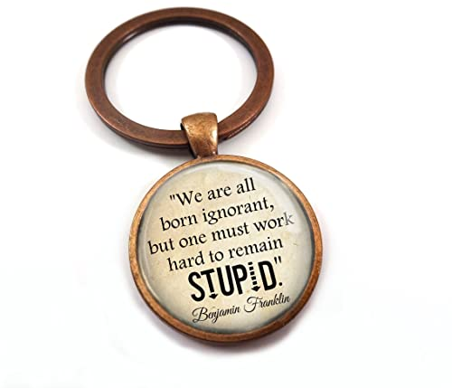 Amazoncom Ben Franklin Quote Necklace Or Key Chain We Are All