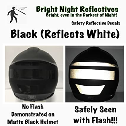 Black reflective vinyl decal sheet 5x30 reflects white great for helmets cars trucks de