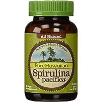 """Nutrex Hawaii Complément hautement nutritif Spirulina pacifica - 100% végétarien - Favorise la santé du cÅ""""ur, des yeux et du cerveau - 200 comprimés"""